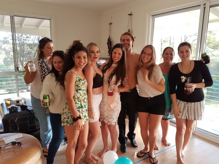 Hens Party with topless waiter in Byron Bay 2017