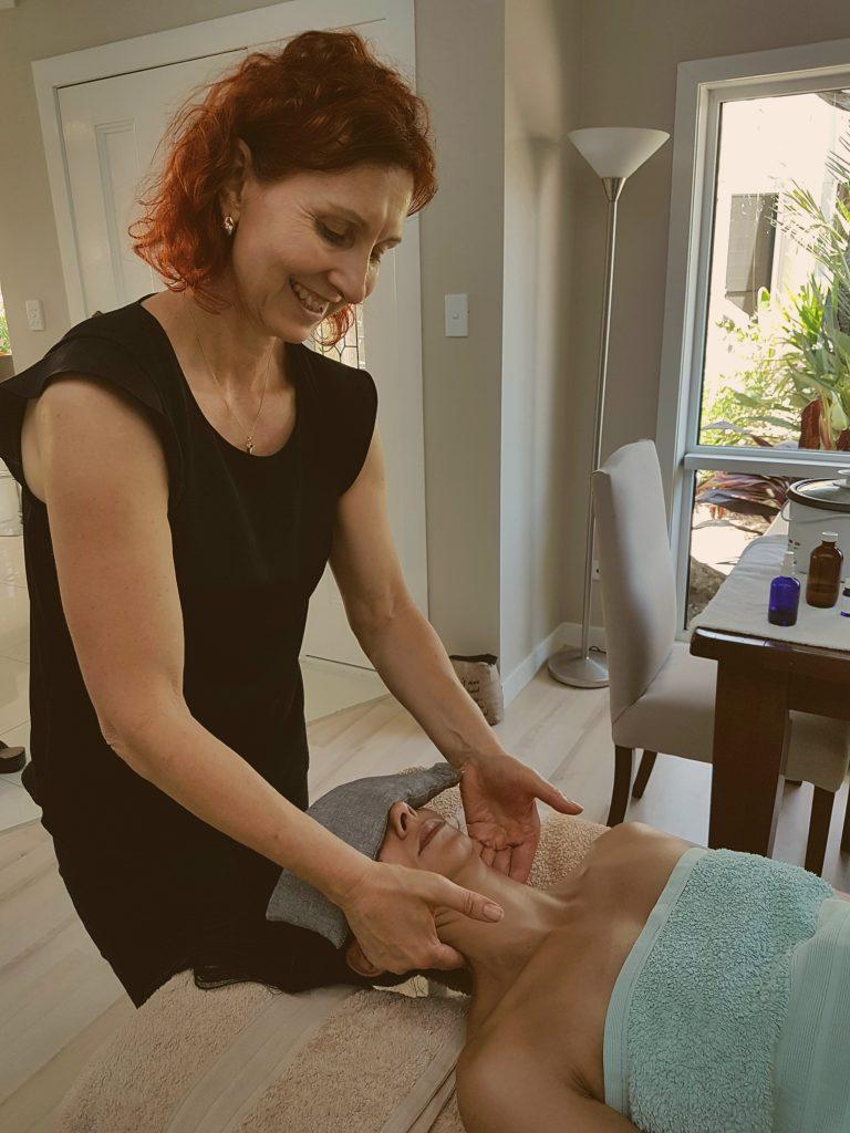 Relaxing neck massage